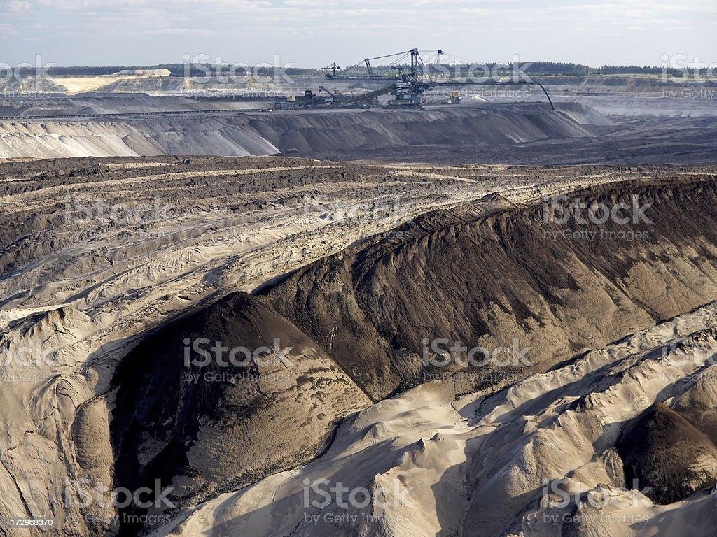 Open Cast Mining royalty-free stock photo
