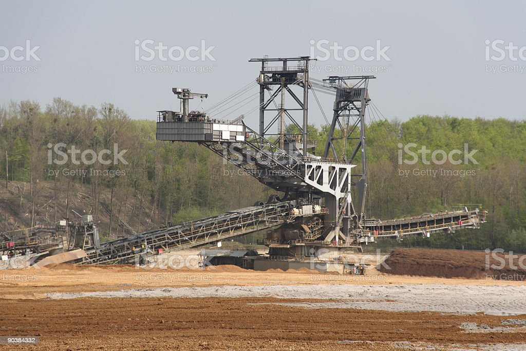 Open Cast Mining stock photo