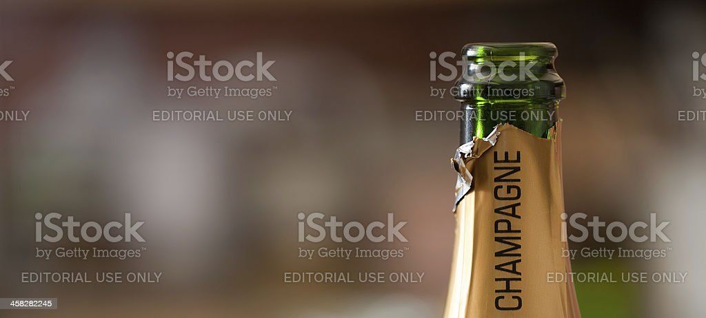 Open Champagne bottle royalty-free stock photo