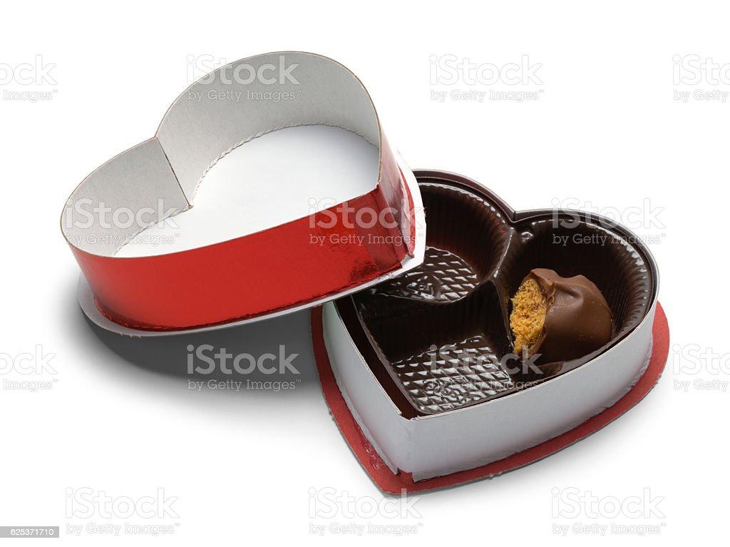 Open Chocolate Box stock photo