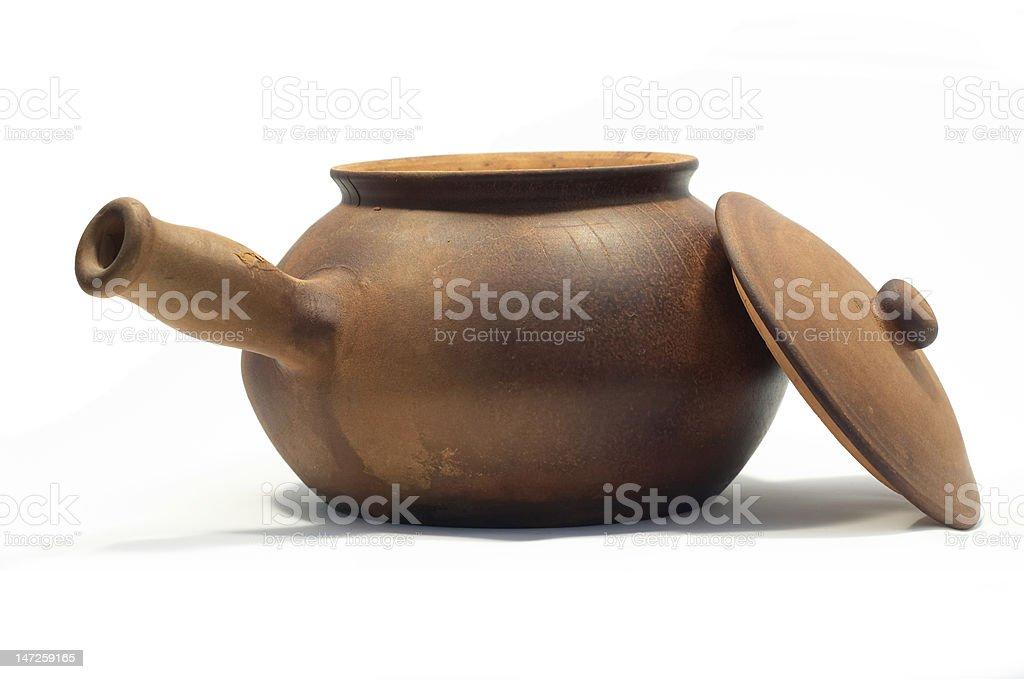 open clay pot royalty-free stock photo