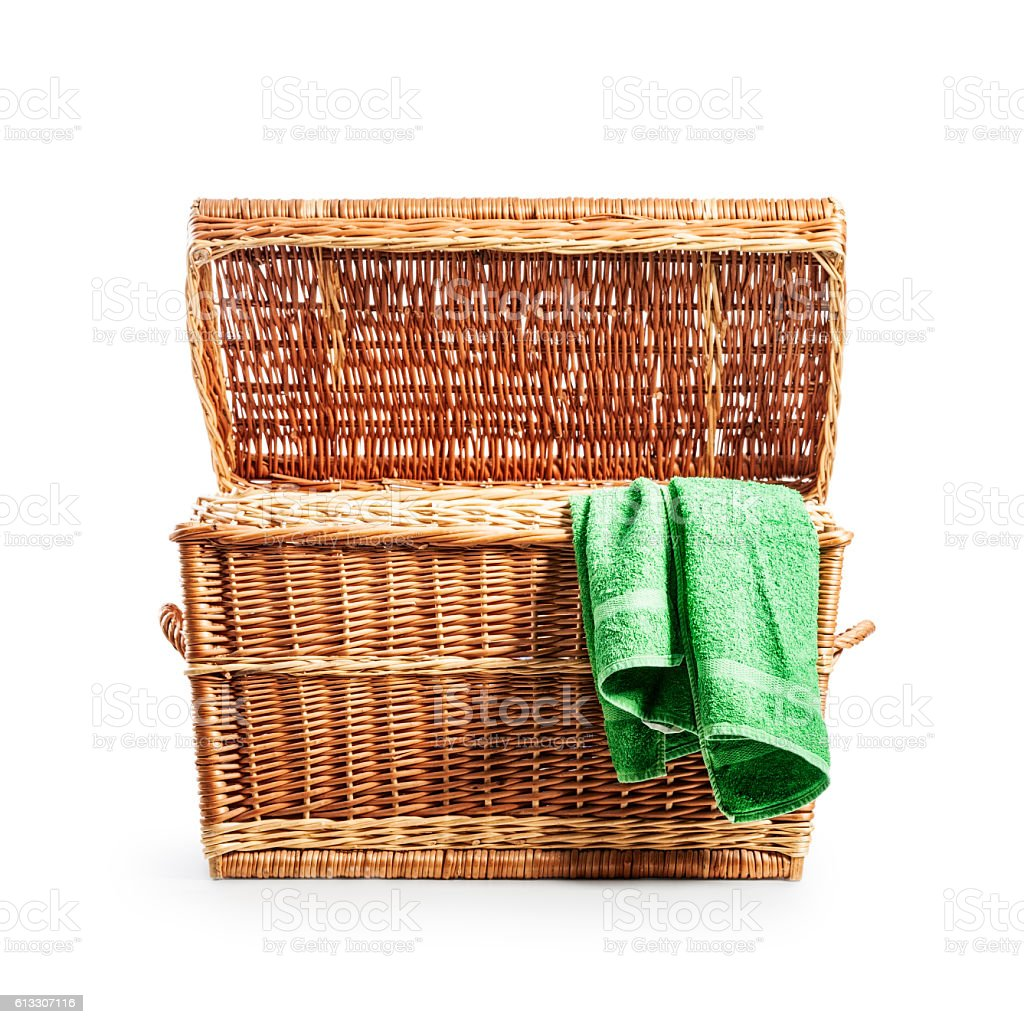 Open clothes box stock photo
