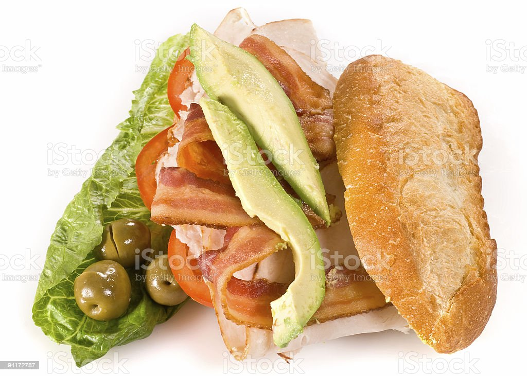 Open club sandwich royalty-free stock photo
