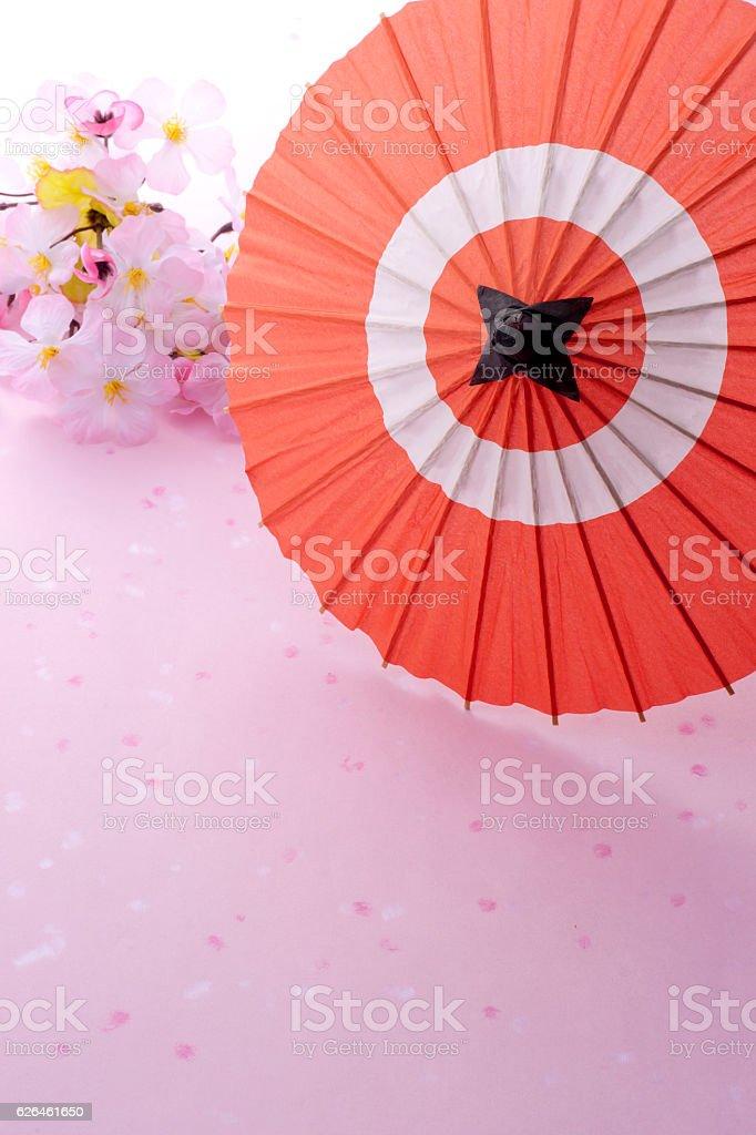 Open cocktail umbrella stock photo