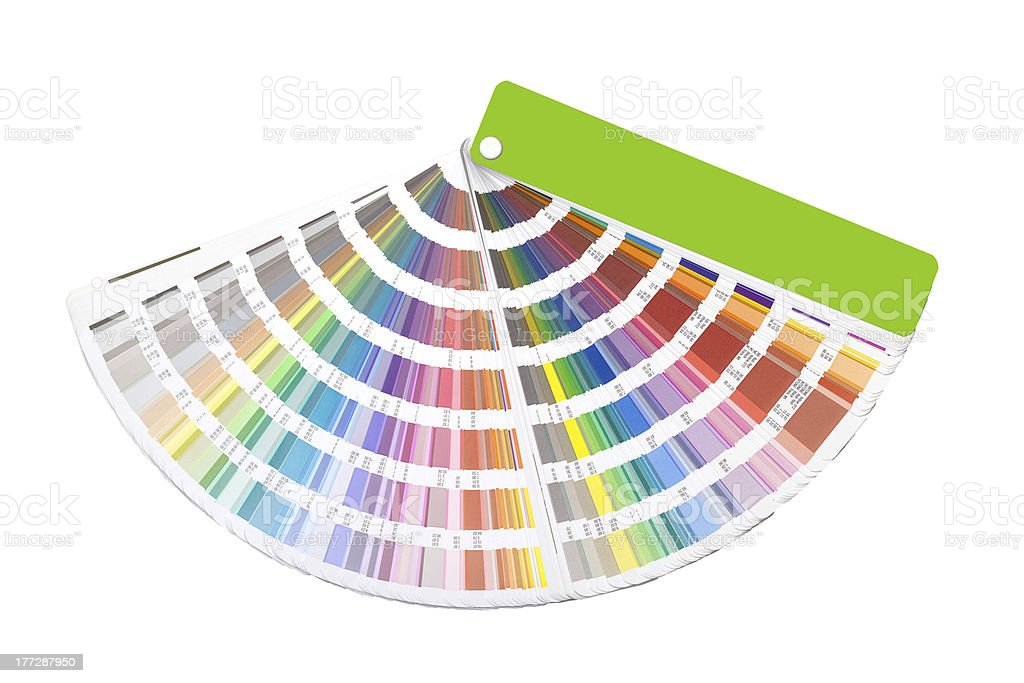 open color guide swatch stock photo
