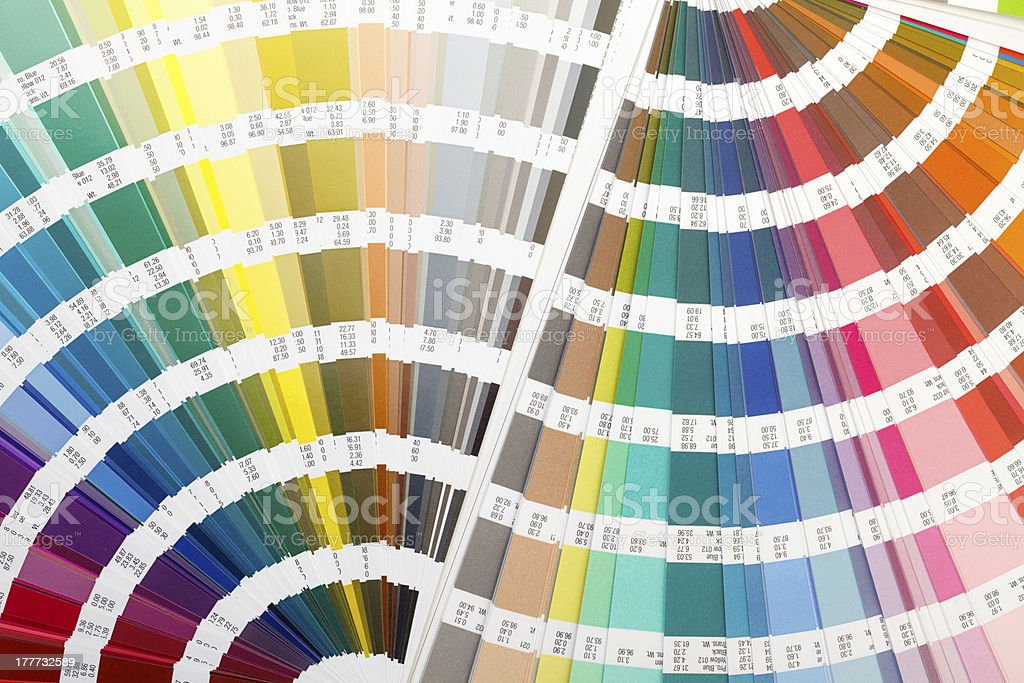 Open Color Guide Swatch royalty-free stock photo