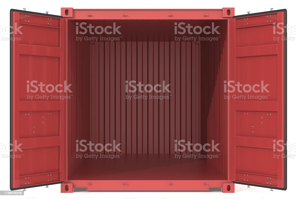 Open Container. stock photo