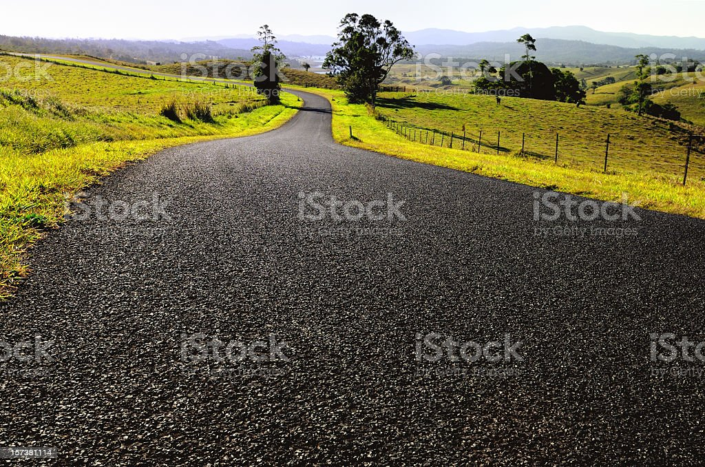 Open Country Road stock photo
