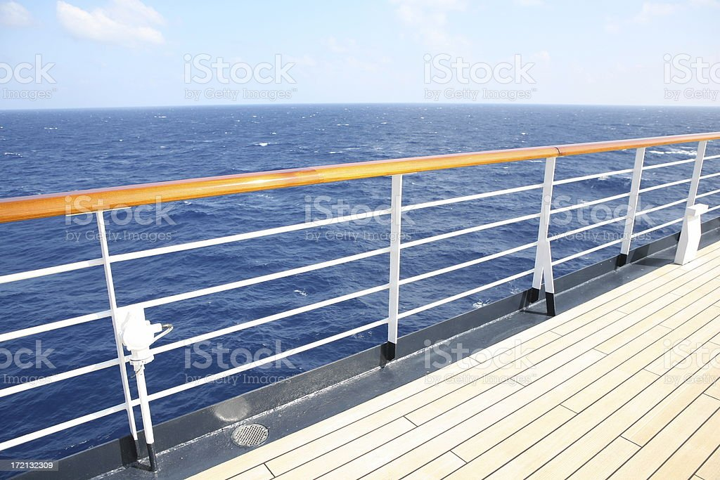 Open deck of a cruise ship royalty-free stock photo