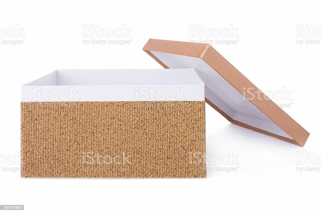 Open decorative box isolated on white royalty-free stock photo