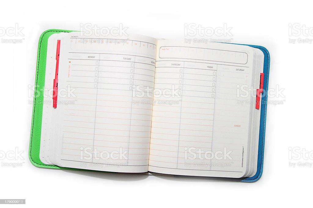 open diary royalty-free stock photo