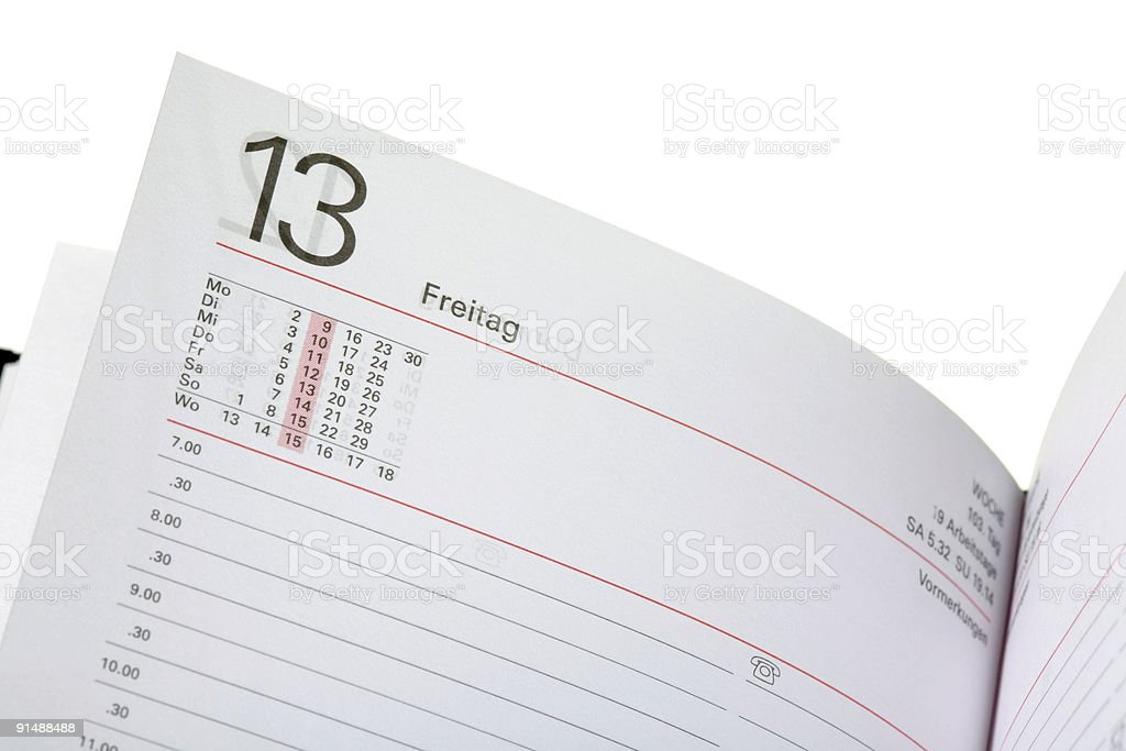 open diary royalty-free stock photo