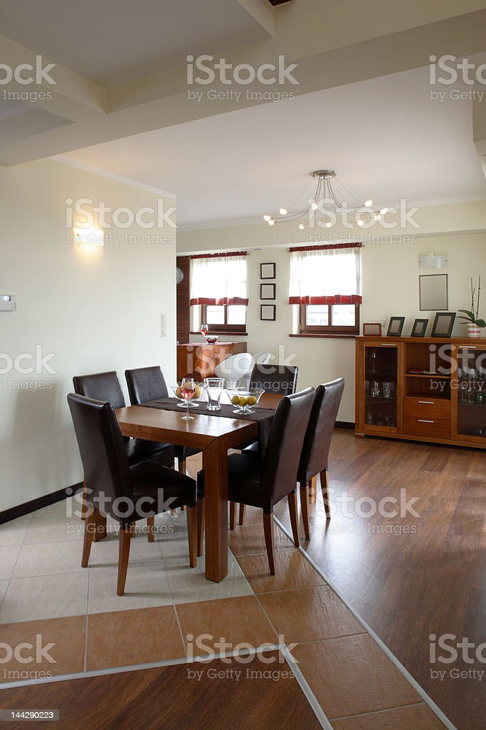 Open dining room royalty-free stock photo