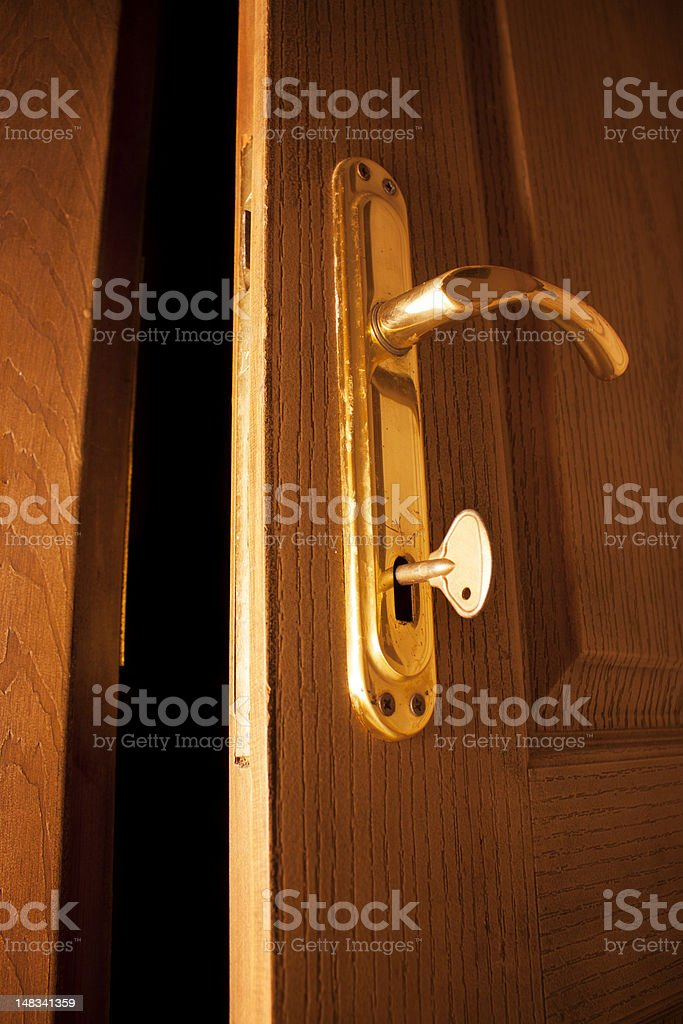 open door and the key royalty-free stock photo