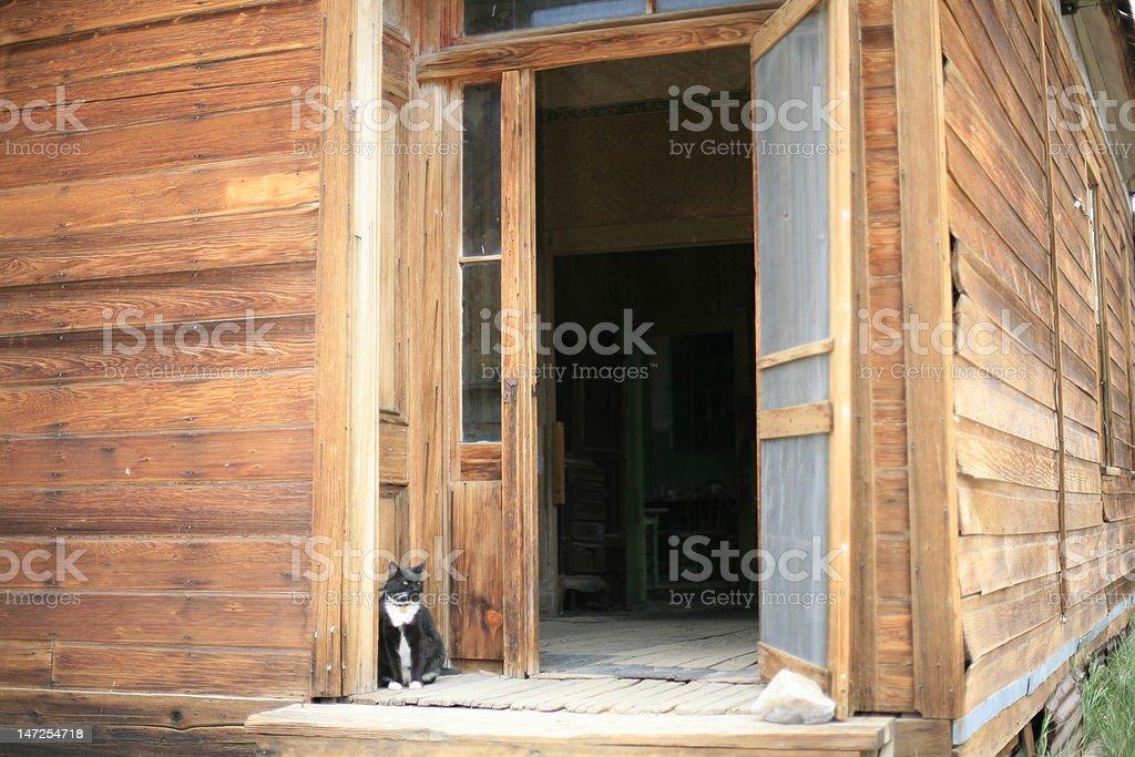 Open Door in Old West royalty-free stock photo