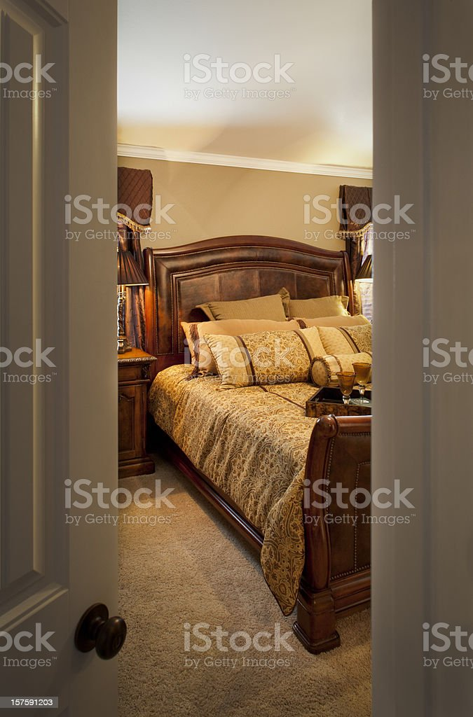 open door into bedroom royalty-free stock photo