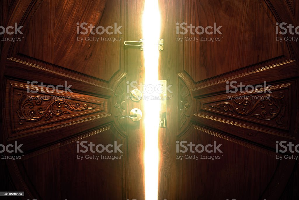 open door light stock photo