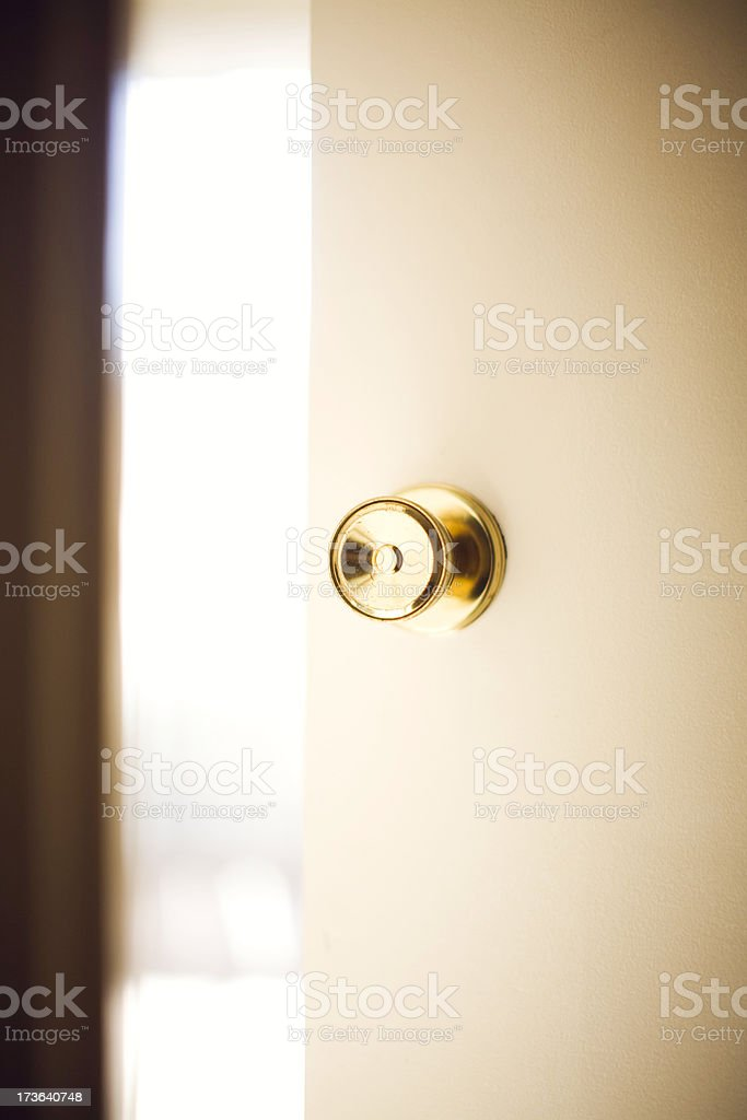 Open Door of Opportunity to Bright Light stock photo