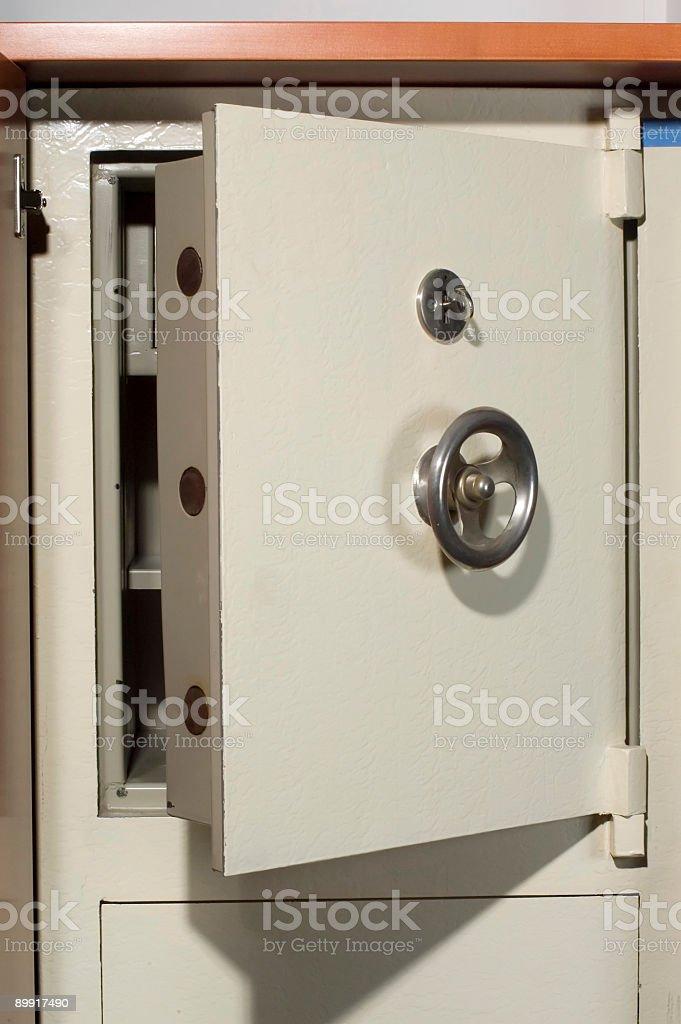 Open door of the old vault royalty-free stock photo