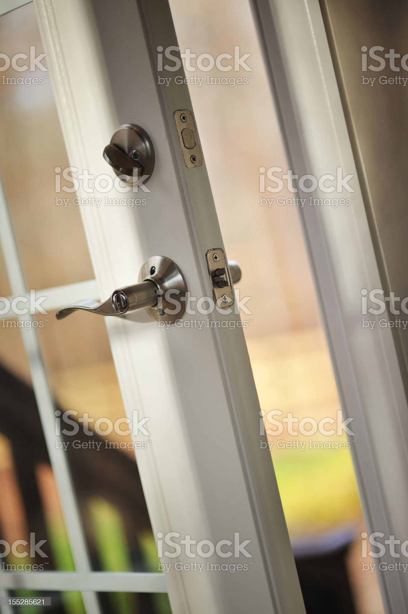 Open Door To House. royalty-free stock photo