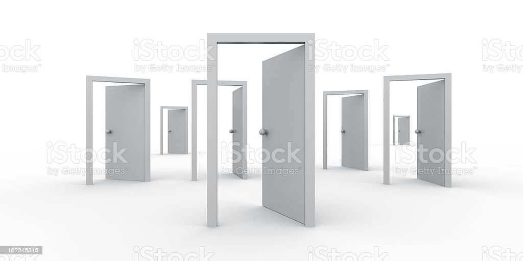 Open Doors - Find Your Way stock photo