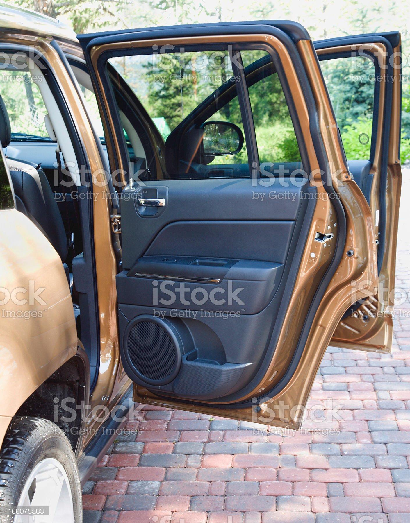 Open Doors Of New SUV 4 Wheel Drive royalty-free stock photo