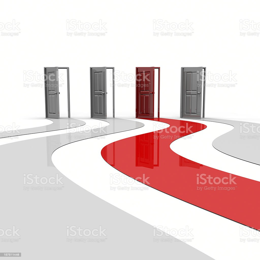 Open Doors One Red royalty-free stock photo