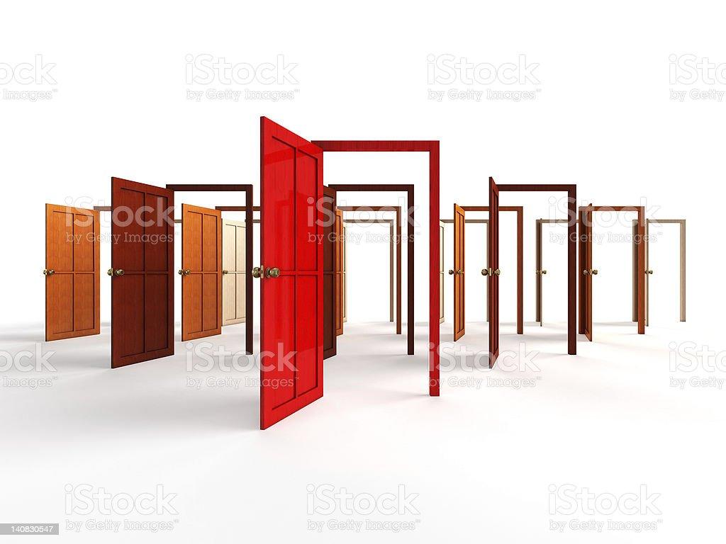 Open doors royalty-free stock photo