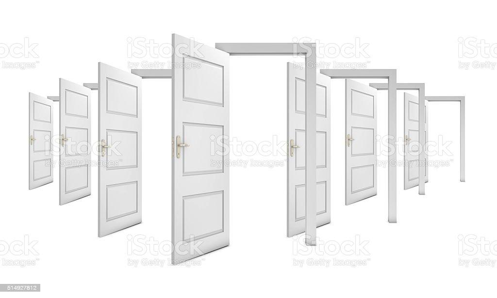 Open doors stock photo