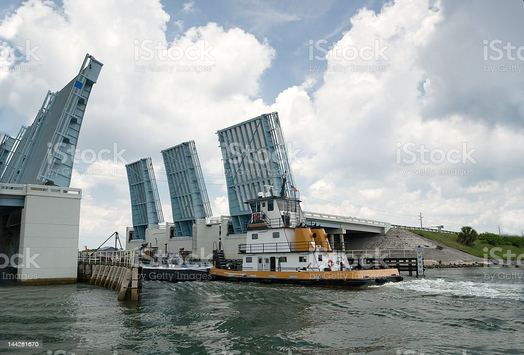 Open Drawbridge royalty-free stock photo