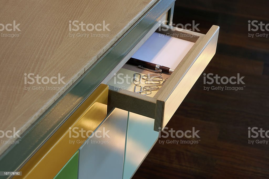 Open Drawer stock photo