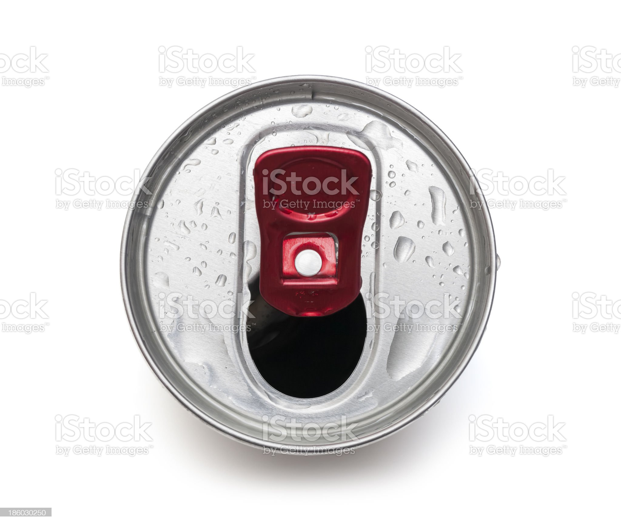 open drink can top view royalty-free stock photo