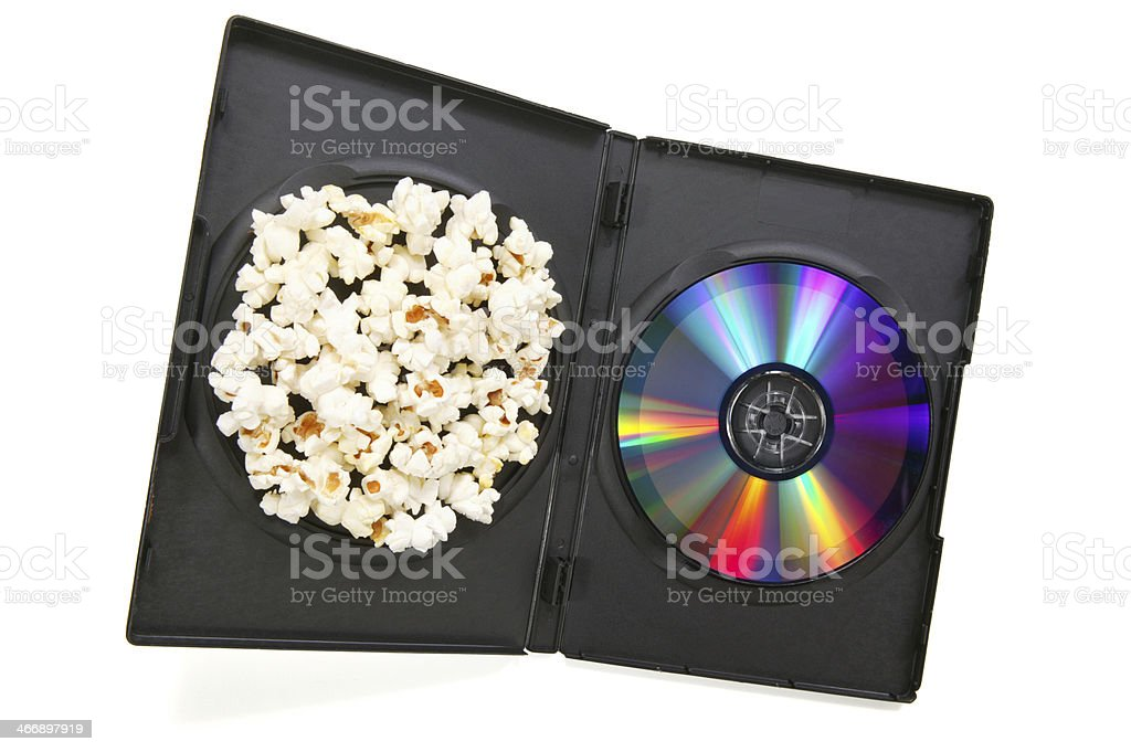open DVD case and disk royalty-free stock photo