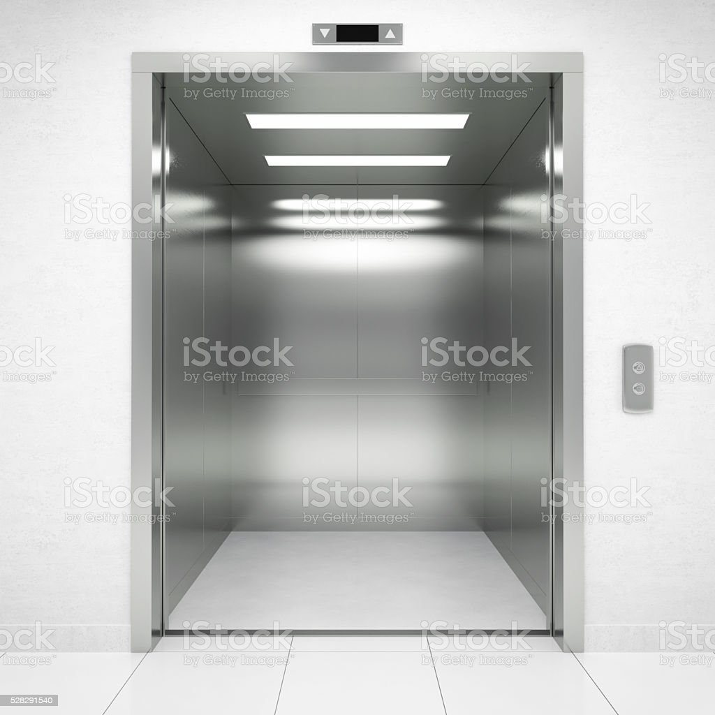 Open Elevator Door stock photo