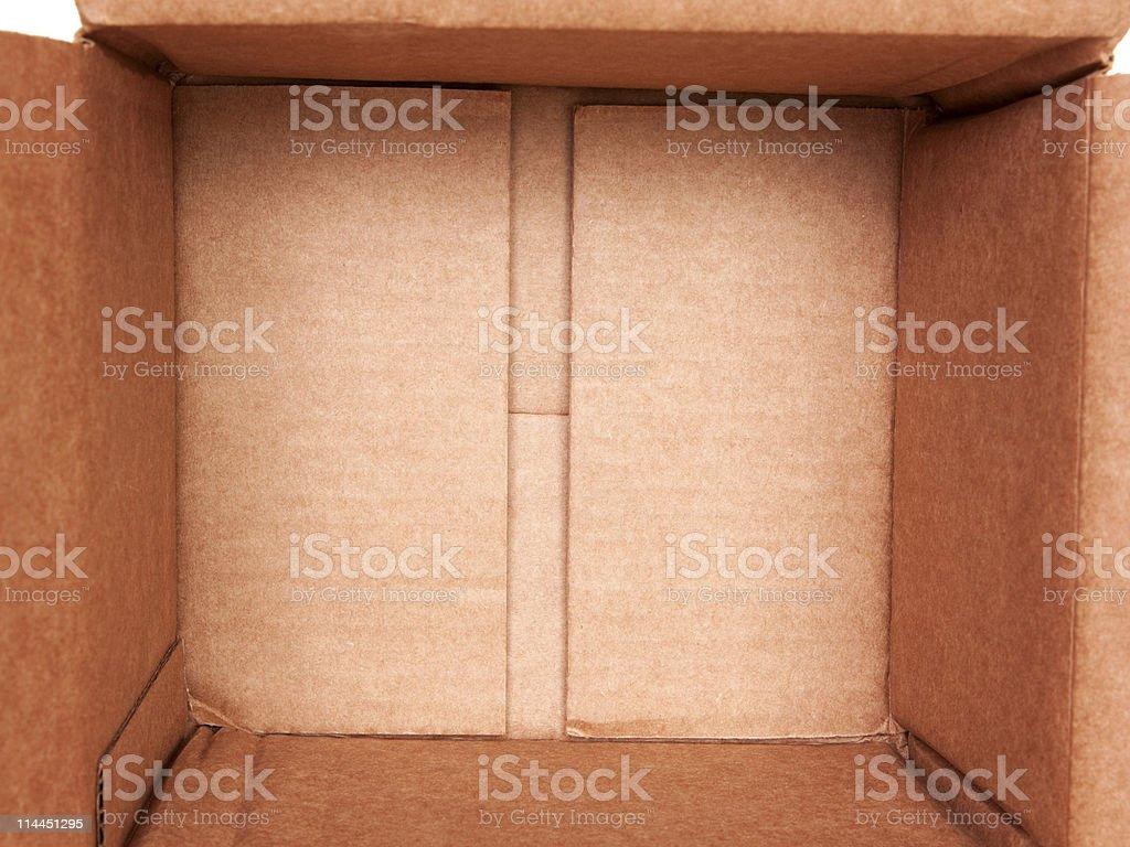 Open Empty Brown Cardboard Box royalty-free stock photo
