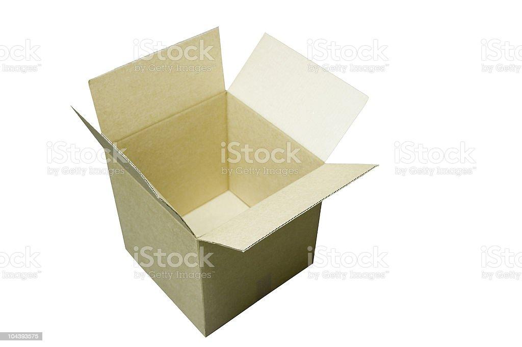 Open empty cardboard shipping box royalty-free stock photo