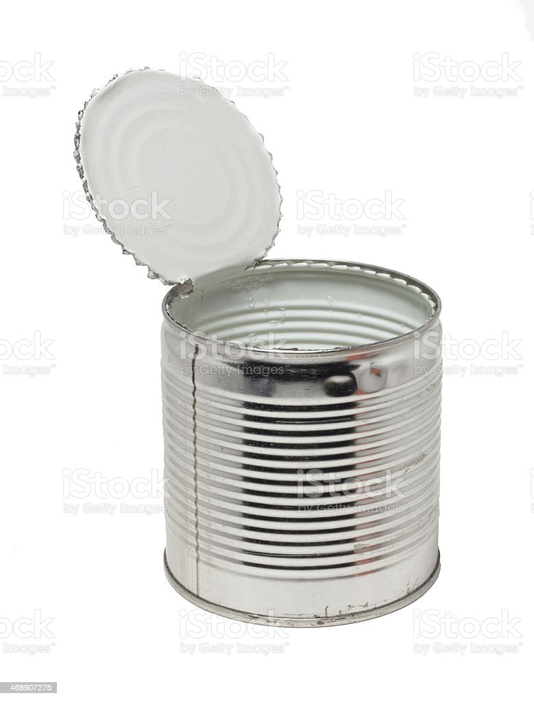 Open empty conserve can royalty-free stock photo