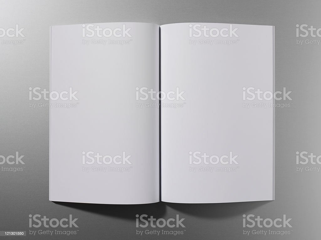 Open empty magazine or book royalty-free stock photo