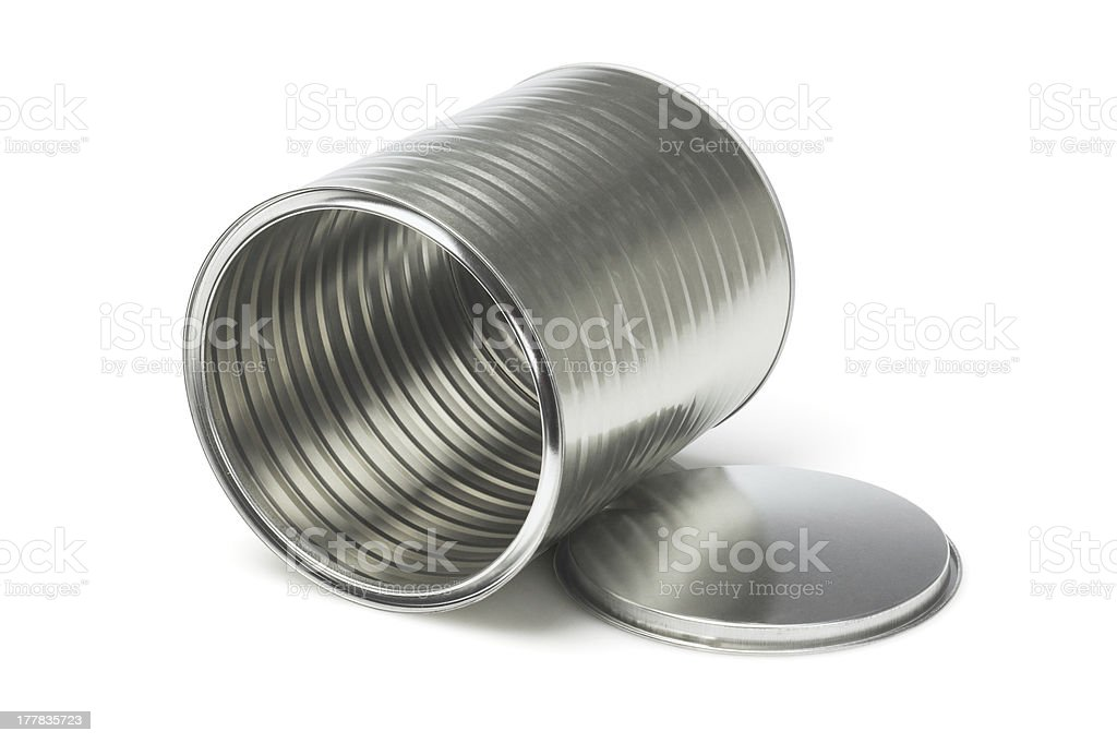 Open Empty Tin Can royalty-free stock photo