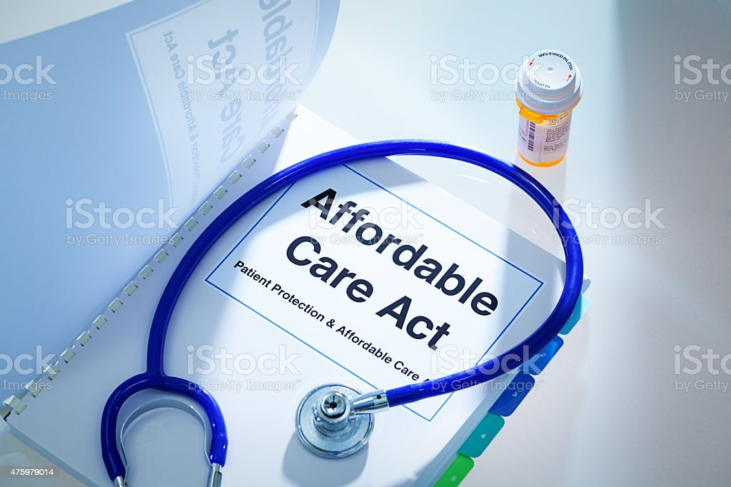Open Enrollment Insurance ObamaCare Patient Protection, Affordable Care Act Guide stock photo