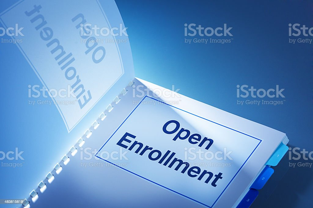 Open Enrollment ObamaCare Affordable Care Act Healthcare Plan stock photo