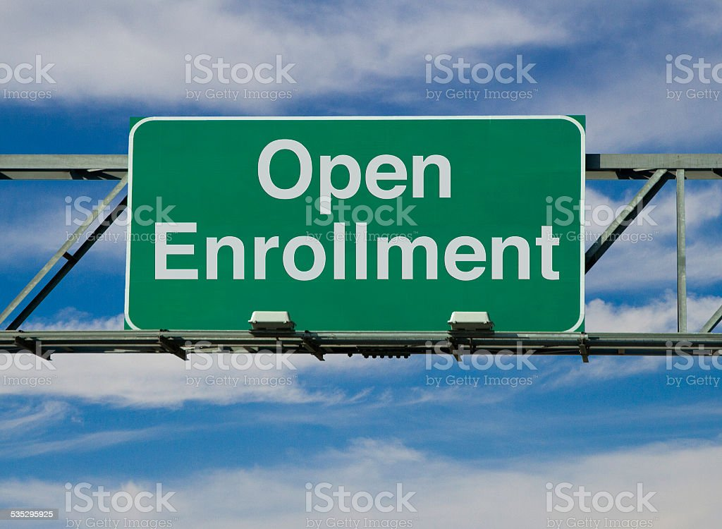 Open Enrollment stock photo