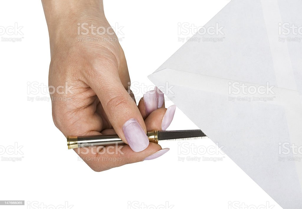 Open envelope royalty-free stock photo