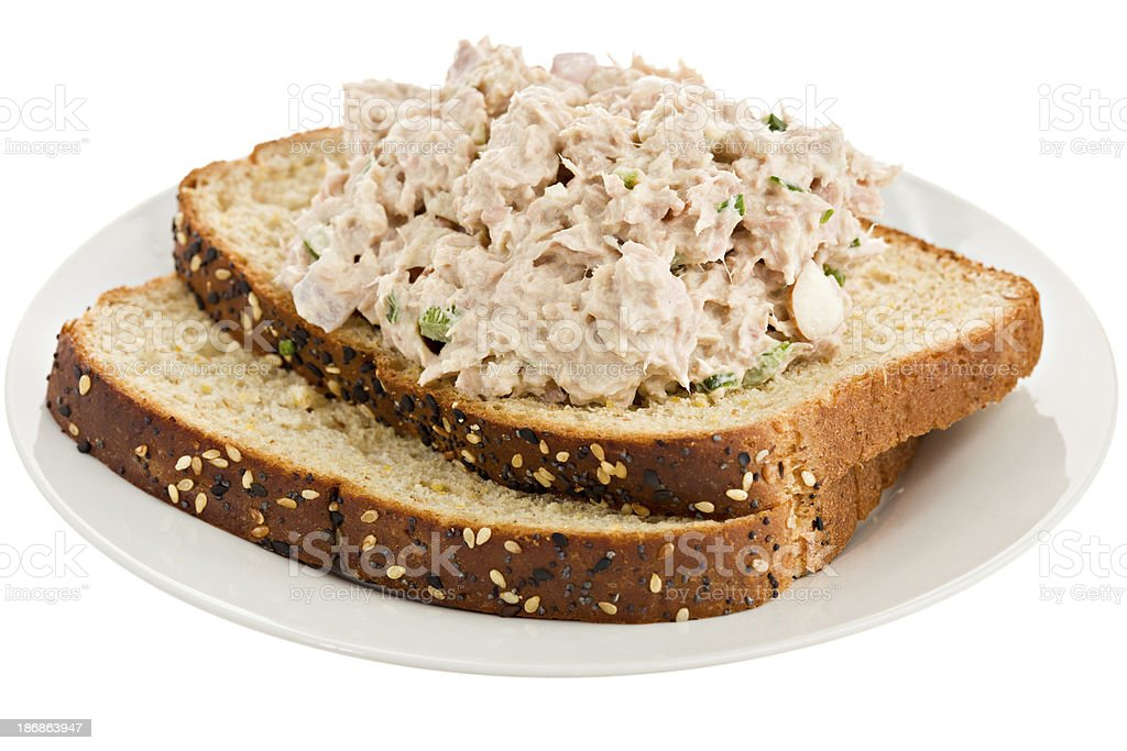 Open Face Tuna Sandwich stock photo