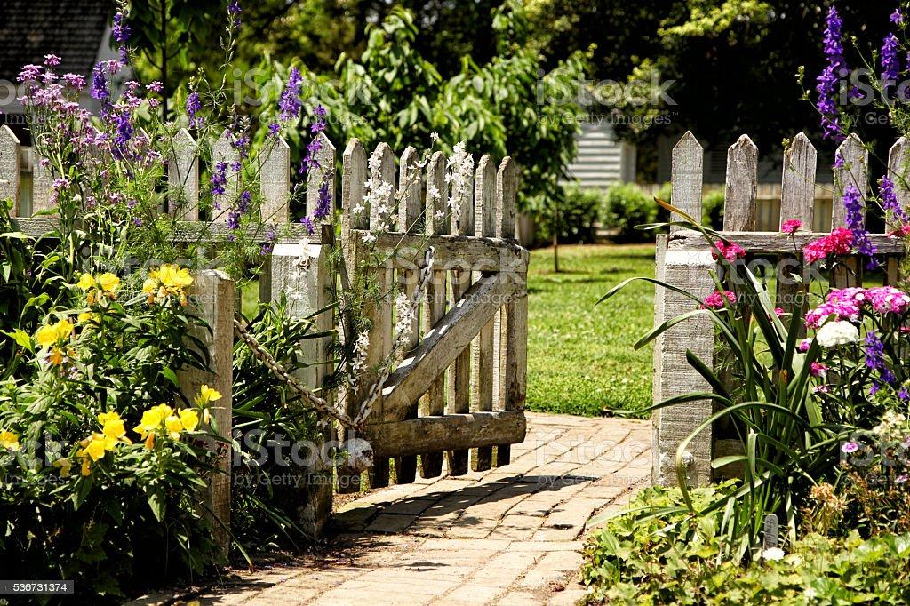 Open Fence stock photo