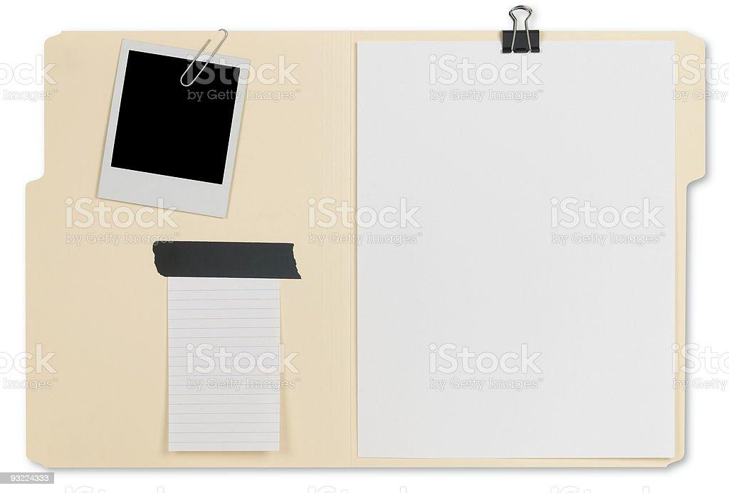 Open File Folder royalty-free stock photo