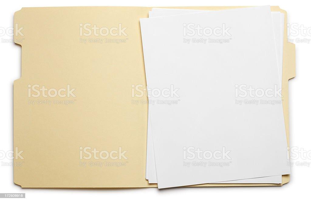 Open File stock photo