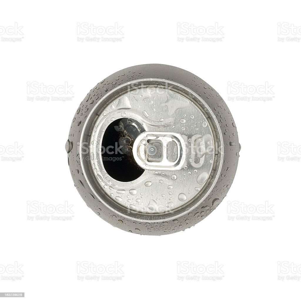 Open fizzy drink can with clipping path stock photo