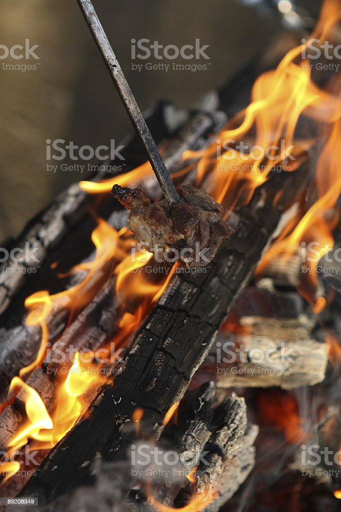 Open Flame BBQ Part 3 royalty-free stock photo