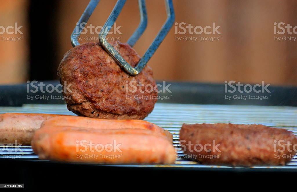 Open flame charcoal barbecue royalty-free stock photo
